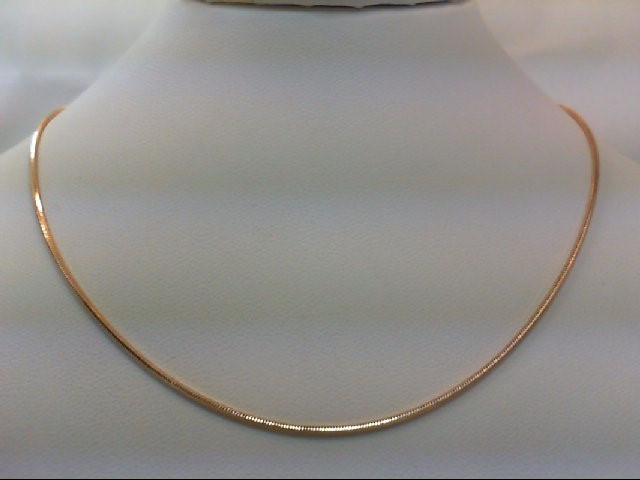 "17"" Gold Snake Chain 14K Yellow Gold 4.9g"