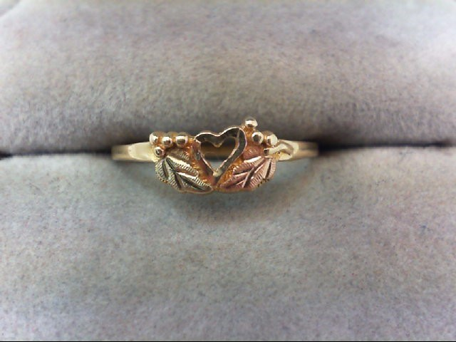 Lady's Gold Ring 10K Tri-color Gold 1.2g
