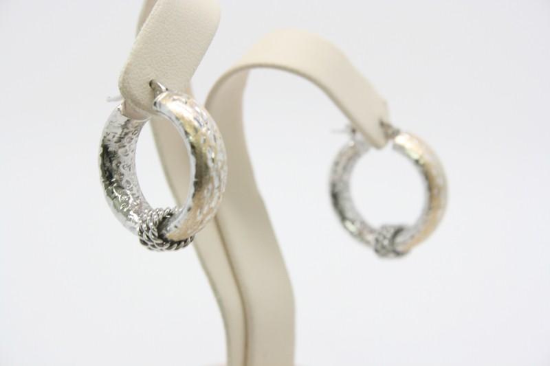 Gold Earrings 14K 2 Tone Gold 2.9g