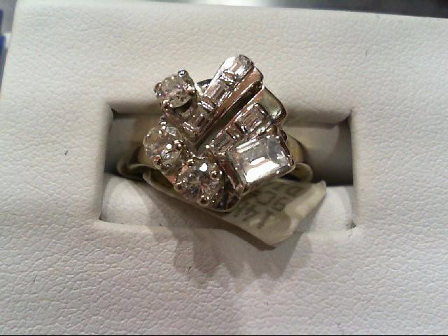 Lady's Diamond Fashion Ring 9 Diamonds 1.00 Carat T.W. 14K White Gold 4.53g