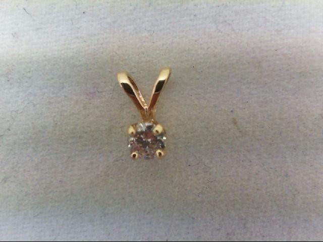 Gold-Multi-Diamond Pendant .10 CT. 14K Yellow Gold 0.2g