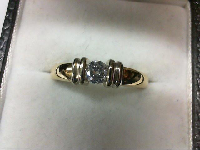 Lady's Diamond Engagement Ring 0.25 CT. 14K Yellow Gold 4g