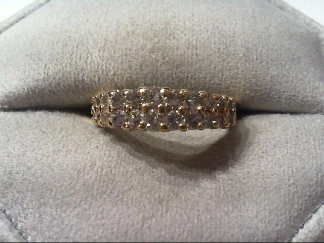 Lady's Diamond Wedding Band 22 Diamonds .88 Carat T.W. 14K Yellow Gold 3.5g