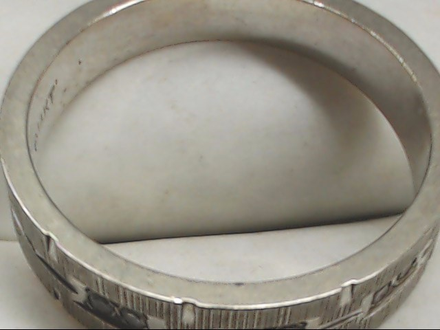Gent's Gold Ring 14K White Gold 5.3g Size:9.5