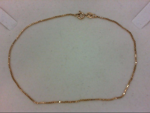 anklet 14K Yellow Gold 1.3g