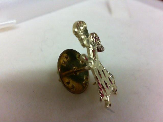 Gold Brooch 14K Yellow Gold 1.9g