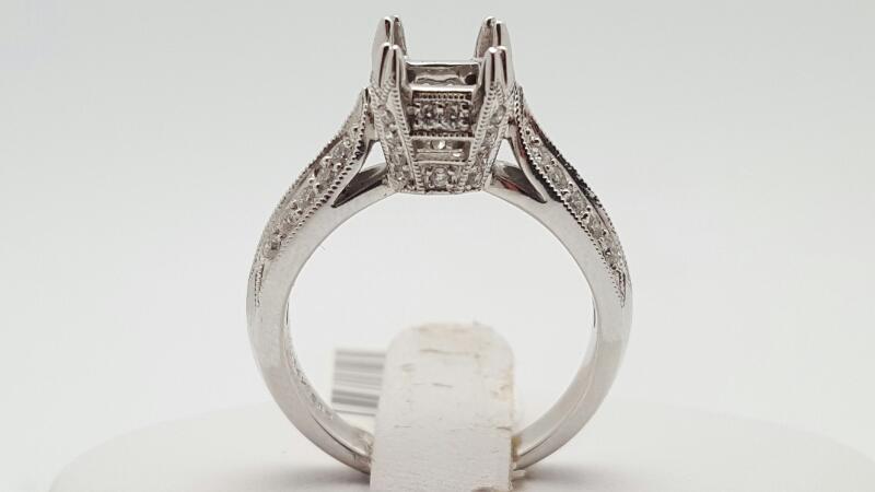 Lady's Diamond Fashion Ring 37 Diamonds .37 Carat T.W. 14K White Gold 5.3g