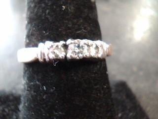 Lady's Diamond Wedding Band 3 Diamonds .45 Carat T.W. 14K Yellow Gold 2dwt