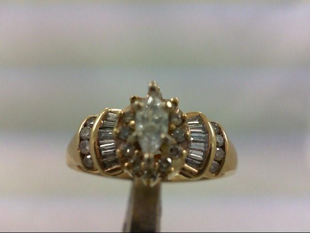 Lady's Diamond Engagement Ring 33 Diamonds .47 Carat T.W. 14K Yellow Gold 3.74g