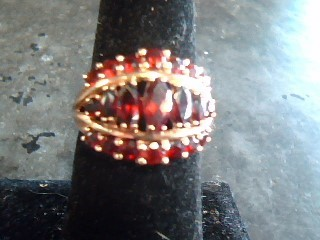 Synthetic Ruby Lady's Stone Ring 10K Yellow Gold 2.2dwt