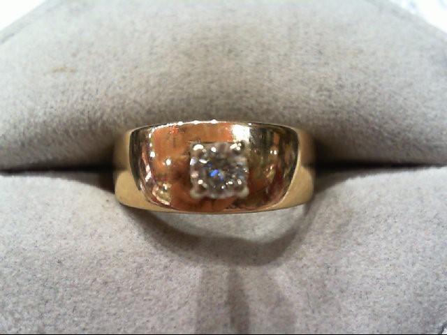 Lady's Diamond Engagement Ring .25 CT. 14K Yellow Gold 4.4g