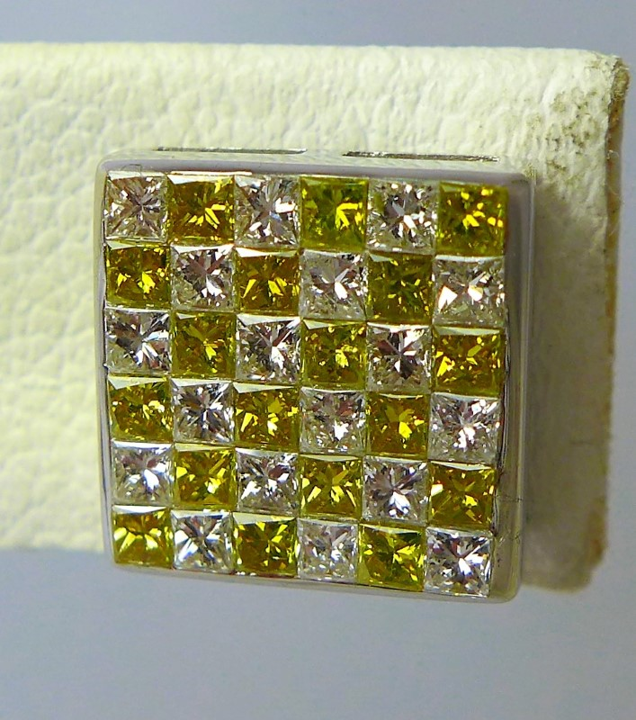 Gold-Diamond Earrings 72 Diamonds .72 Carat T.W. 10K White Gold 4g