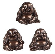 "GEORGE S. CHEN 88175 3PS SET MAITREYA BRONZE 2"" TALL"