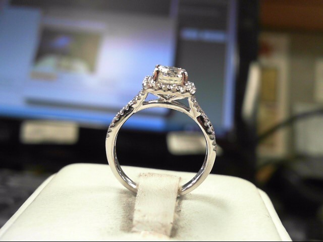 Lady's Diamond Solitaire Ring 1.01 CT. 14K White Gold 3.48g Size:6.5