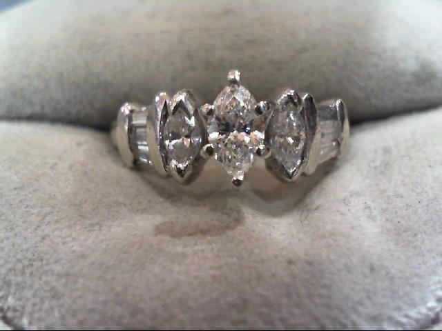 Lady's Platinum-Diamond Solitaire 9 Diamonds 1.15 Carat T.W. 950 Platinum 4.7g