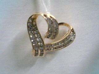 Gold-Multi-Diamond Pendant 44 Diamonds .44 Carat T.W. 10K Yellow Gold 2.8g