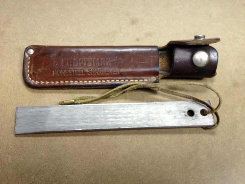 Antique CRAFTSMAN Hunting Knife HONESTEEL SHARPENER