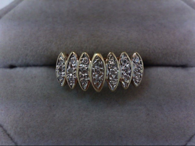 Lady's Diamond Fashion Ring 21 Diamonds .21 Carat T.W. 10K Yellow Gold 2.6g