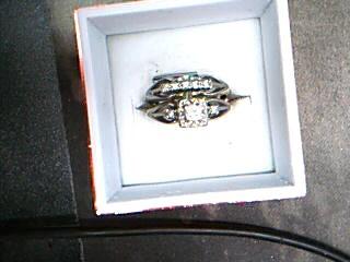 Lady's Diamond Wedding Set 8 Diamonds .29 Carat T.W. 14K White Gold 4.72g