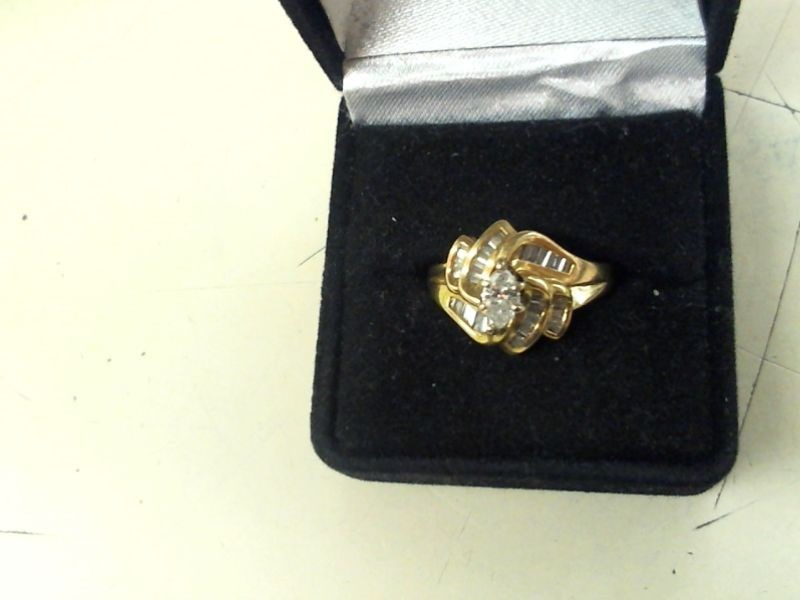 Lady's Diamond Fashion Ring 37 Diamonds .97 Carat T.W. 14K Yellow Gold 7g
