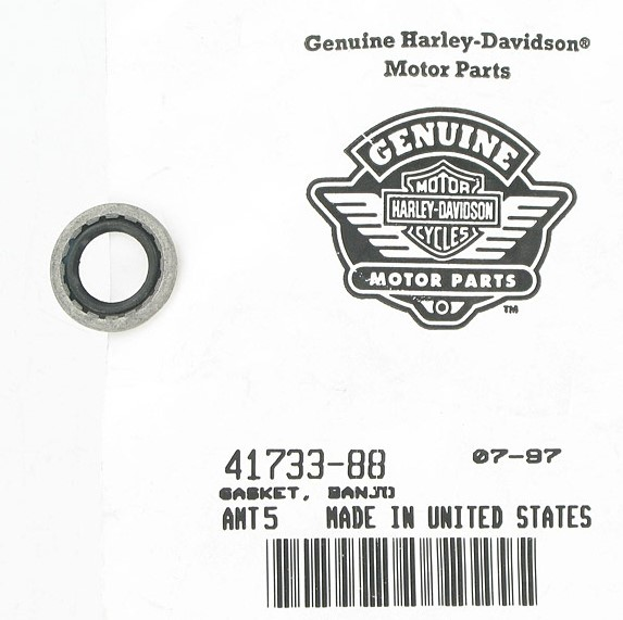 HARLEY DAVIDSON 41733-88; HDP BANJO GASKET ***SOLD BY 1 EACH***