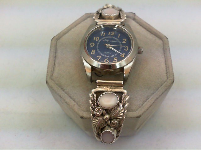 SILVER AND MOTHER OF PEARL WATCH