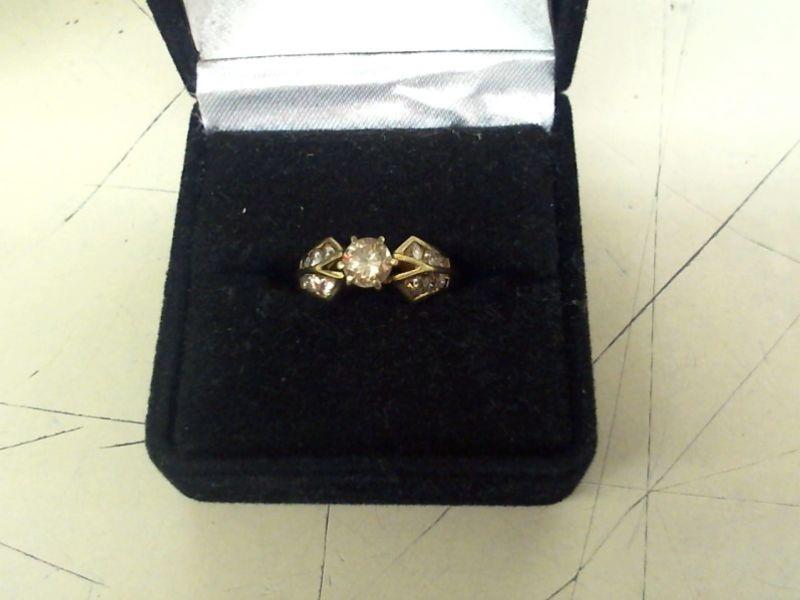 Lady's Diamond Fashion Ring 13 Diamonds .88 Carat T.W. 14K Yellow Gold 3.4g