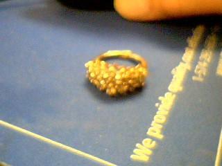 Lady's Diamond Cluster Ring 20 Diamonds 2.20 Carat T.W. 14K Yellow Gold 7.6g