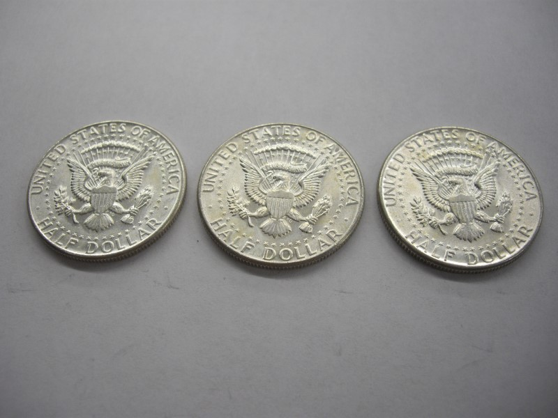 1964 HALF DOLLAR LOT 3PC