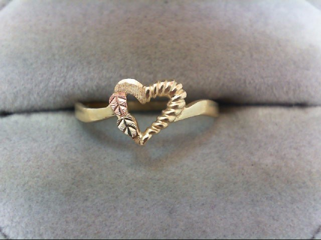 Lady's Gold Ring 10K Tri-color Gold 1.3g