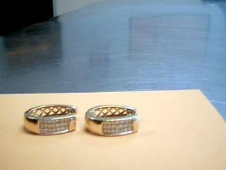 Gold-Diamond Earrings 42 Diamonds .84 Carat T.W. 14K Yellow Gold 6.6g