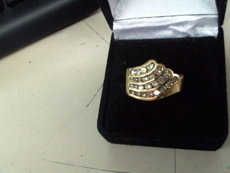 Gent's Diamond Cluster Ring 25 Diamonds 1.00 Carat T.W. 14K Yellow Gold 7.8g