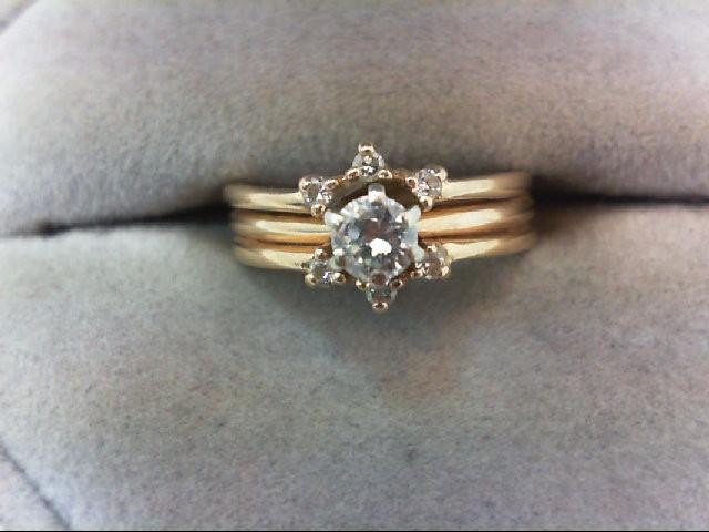 Lady's Diamond Wedding Set 7 Diamonds .26 Carat T.W. 14K Yellow Gold 3.7g