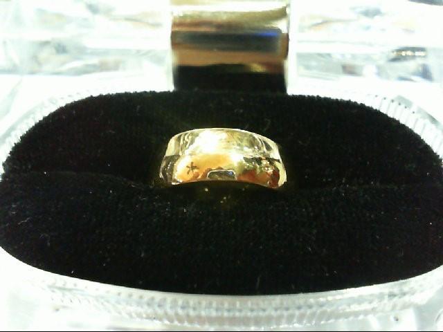 Lady's Gold Wedding Band 18K Yellow Gold 3.9g Size:5