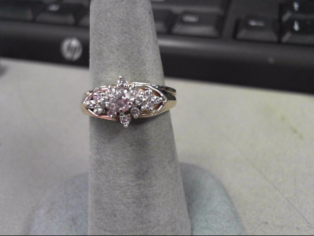 Lady's Diamond Wedding Set 15 Diamonds .48 Carat T.W. 14K Yellow Gold 5.6g