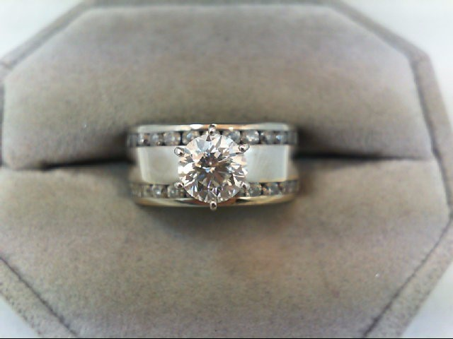 Lady's Diamond Engagement Ring 35 Diamonds 1.75 Carat T.W. 14K White Gold 7.44g