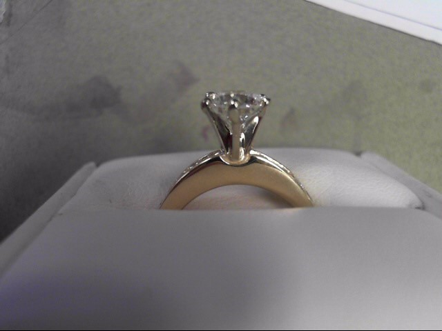 Lady's Diamond Engagement Ring 9 Diamonds 1.55 Carat T.W. 14K Yellow Gold 4.13g