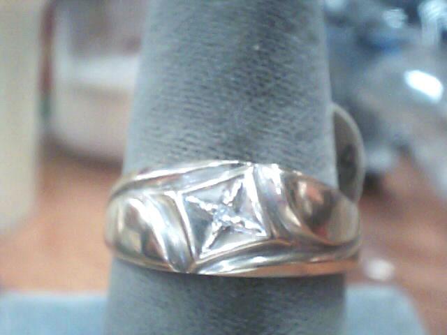 Gent's Diamond Fashion Ring .01 CT. 10K Yellow Gold 1.8dwt