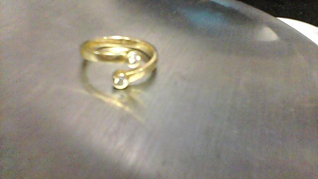 Lady's Diamond Fashion Ring 2 Diamonds .06 Carat T.W. 14K Yellow Gold 2.7g
