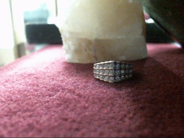 Gent's Diamond Cluster Ring 27 Diamonds .51 Carat T.W. 10K Yellow Gold 3dwt