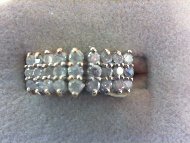 Lady's Diamond Fashion Ring 27 Diamonds 1.35 Carat T.W. 10K Yellow Gold 4.4g