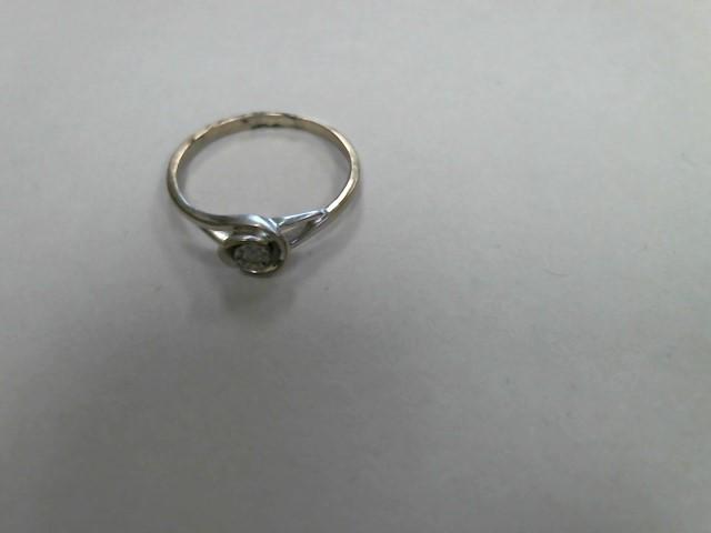 Lady's Gold Ring 10K White Gold 1dwt