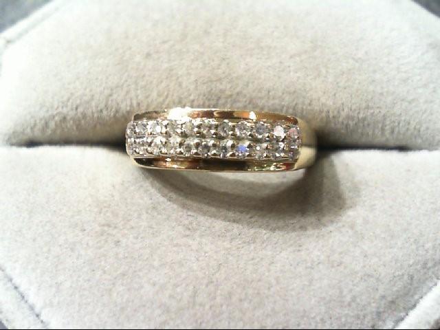 Lady's Diamond Wedding Band 22 Diamonds .22 Carat T.W. 14K Yellow Gold 3g