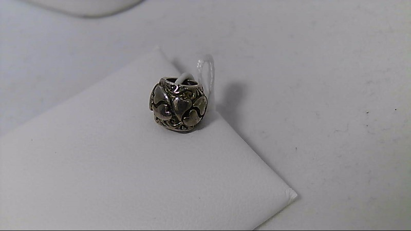 New Reflections Heart Barrel Charm QRS1040 925 Silver 1.5g