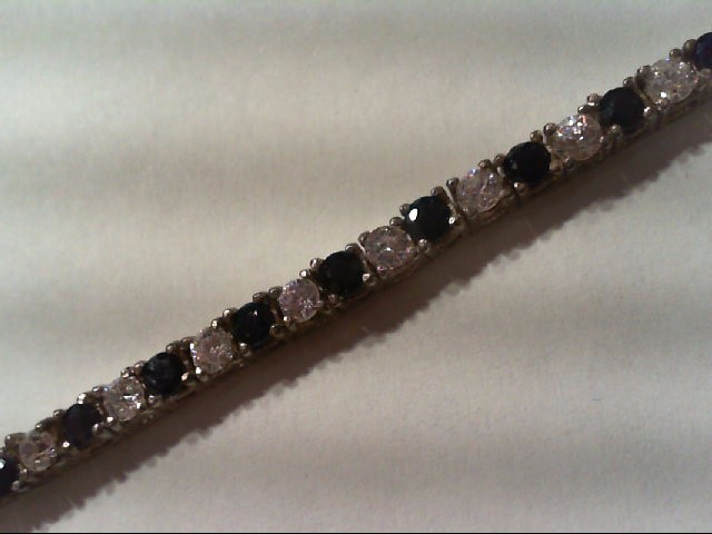 Synthetic Cubic Zirconia Silver-Stone Bracelet 925 Silver 12.8g