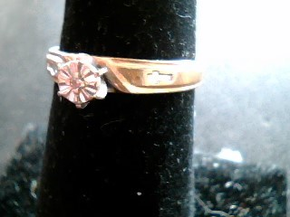 Lady's Diamond Solitaire Ring .01 CT. 10K Yellow Gold 1.2dwt
