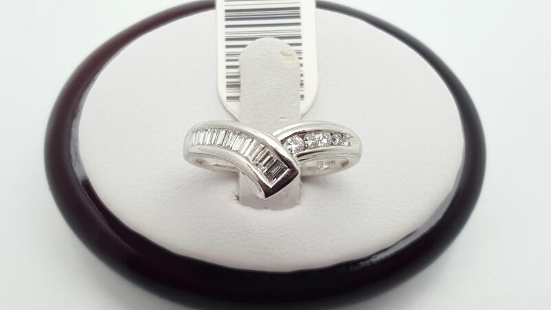 Lady's Diamond Fashion Ring 15 Diamonds .40 Carat T.W. 14K White Gold 3g