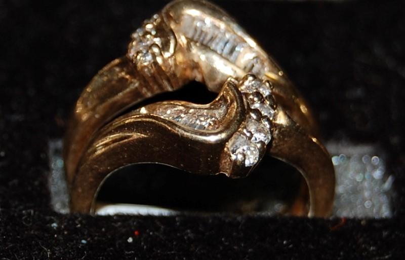 Lady's Diamond Wedding Band 22 Diamonds .22 Carat T.W. 14K Yellow Gold 5.7g