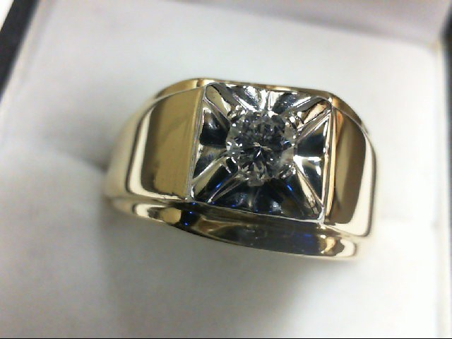 Gent's Diamond Fashion Ring .20 CT. 14K Yellow Gold 9.7g