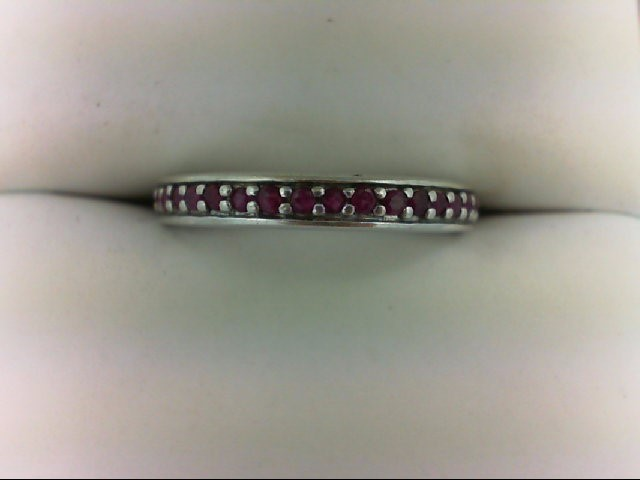 Ruby Lady's Silver & Stone Ring 925 Silver 2.2g Size:7